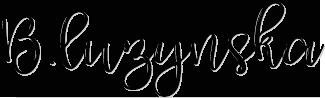 Création logo B.luzynska