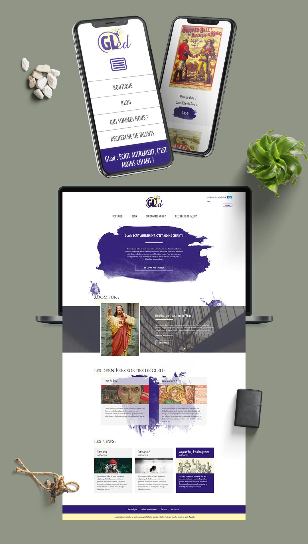 création charte graphique site internet Bordeaux