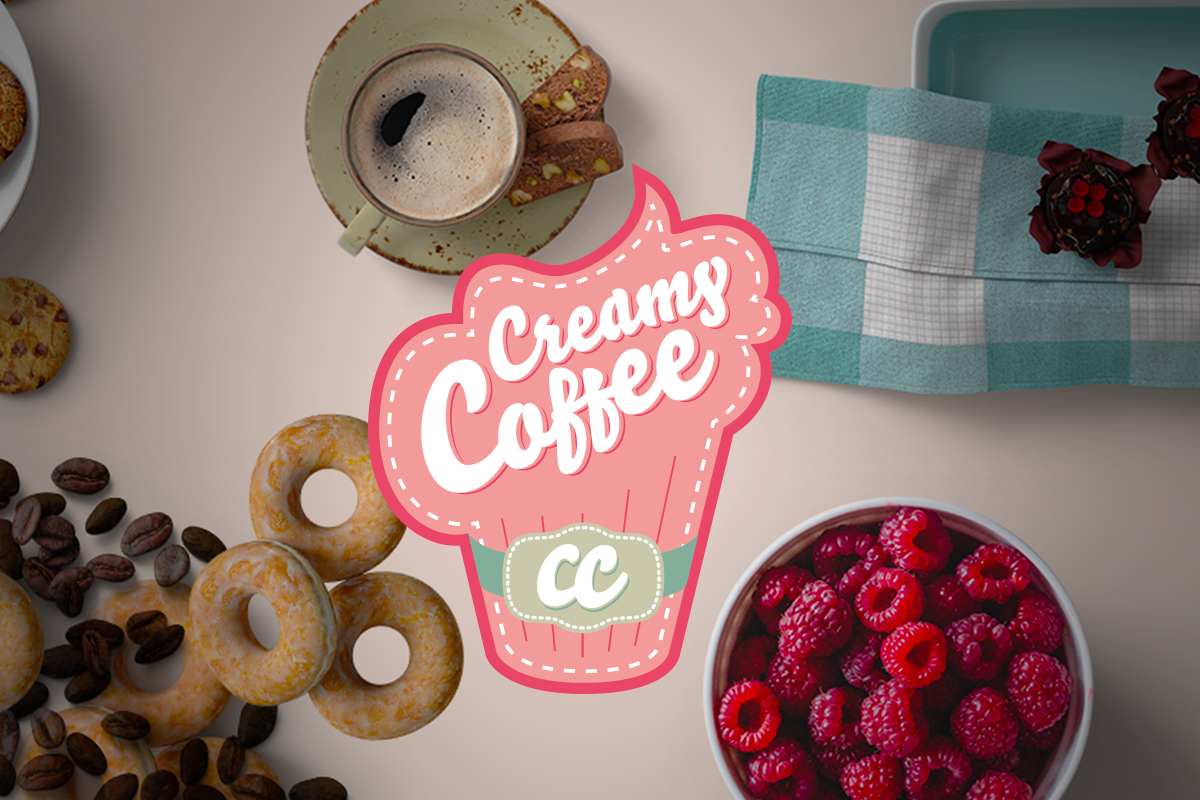 création logo creamy coffee