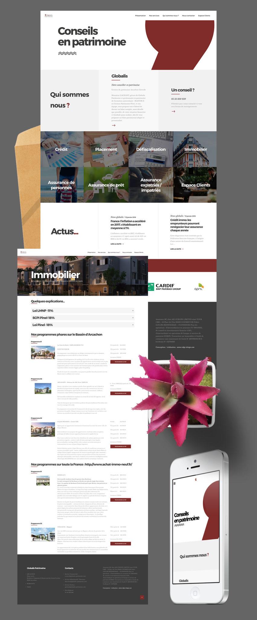 Création site web Arcachon Globalis Patrimoine